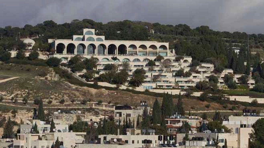 Dec. 13, 2012: The Mormon university building, one of Jerusalem's tourist destinations, located on Mount Scopus.