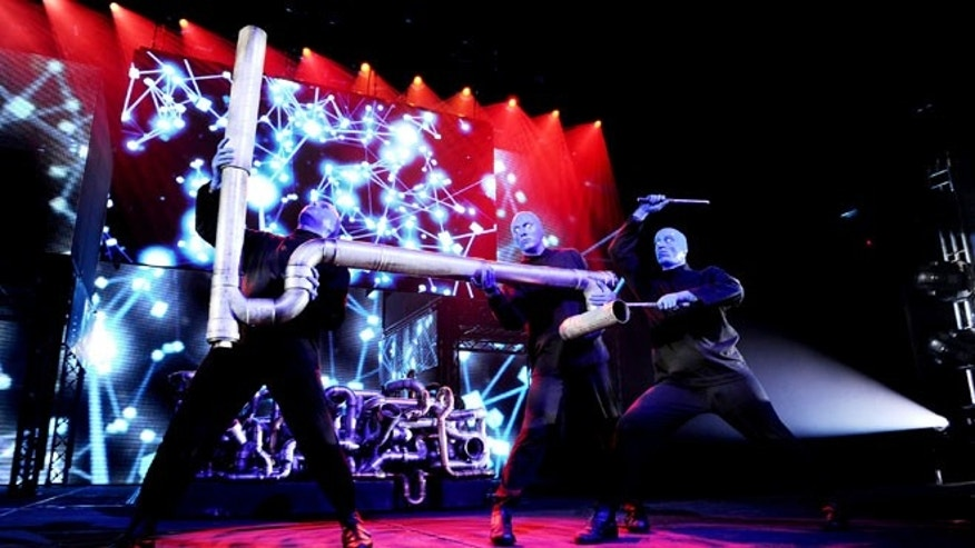 The popular Blue Man Group will have special New Year's Eve shows in Vegas.