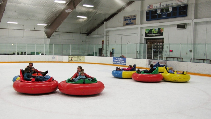 Dec. 26, 2012: Bumper cars on ice at Howelsen Ice Arena in Steamboat Springs, Colo.