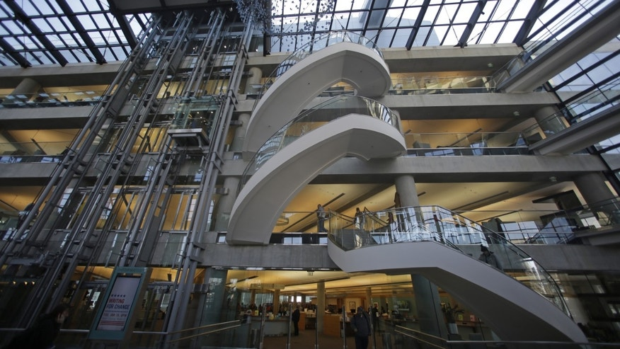 Jan. 9, 2013: The interior of the Salt Lake City Library.