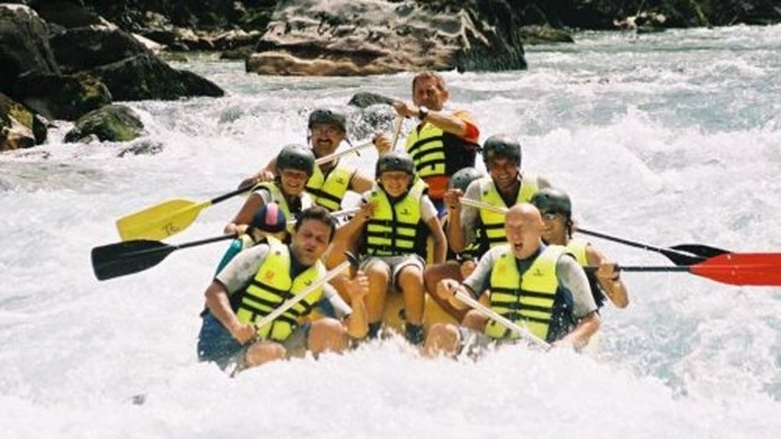 Rafting through the Tara River Canyon northeast of Montenegro is Europe's answer to the Grand Canyon.