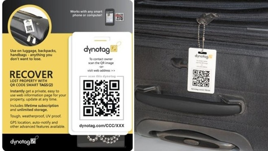 Dynotag Internet/GPS Enabled QR Code Smart Luggage Tags
