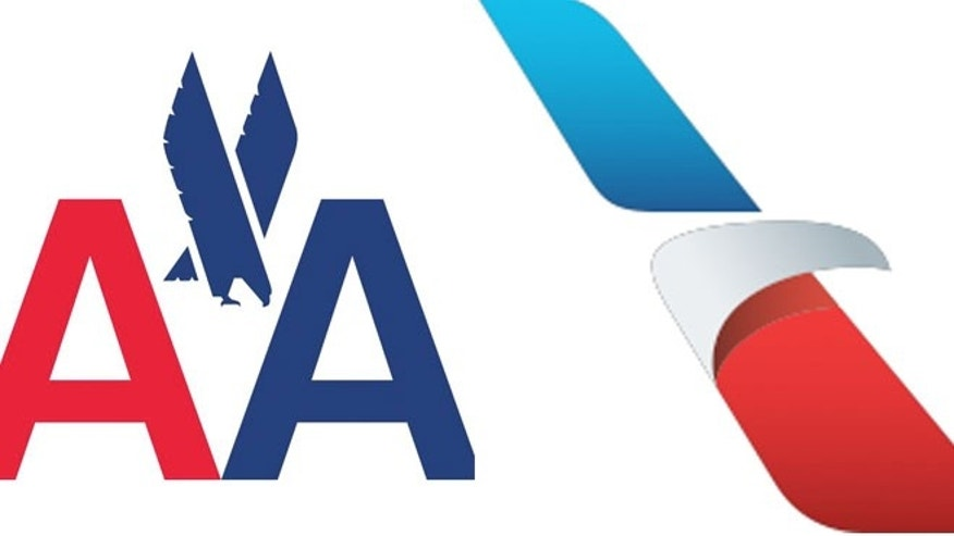 The old logo (left) has a soaring eagle, while the new logo has a more modern look.
