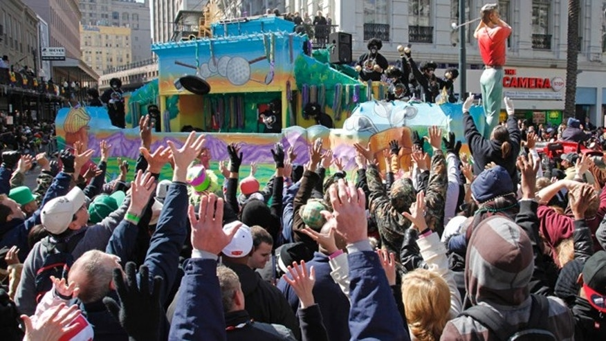 Feb. 16, 2010: The Zulu Mardi Gras parade makes its way onto Canal Street in the Central Business District in New Orleans.