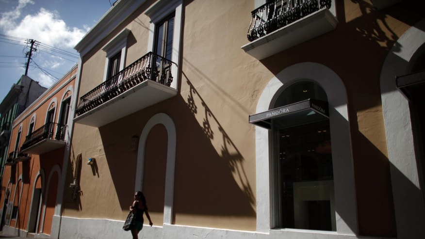 Jan. 24, 2013: A woman walk in a street of the historic colonial section of San Juan named Old San Juan in Puerto Rico.