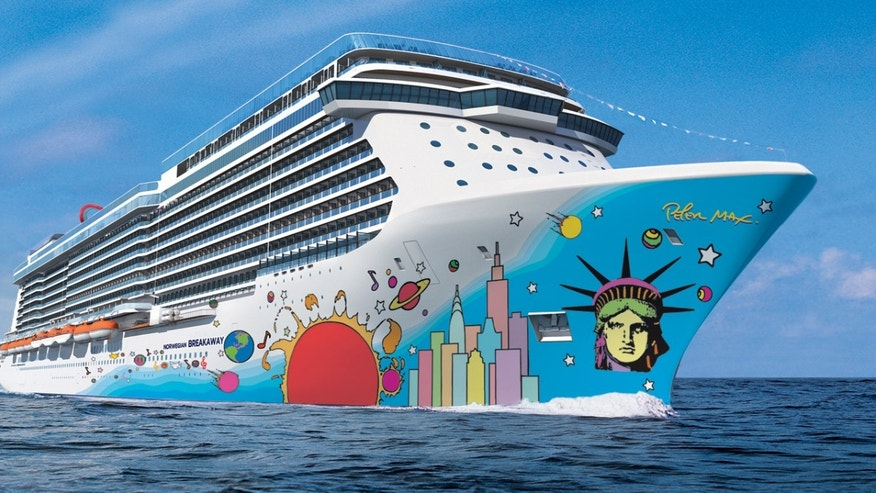 This undated artist's rendering provided by Norwegian Cruise Line shows the exterior of the Norwegian Breakaway.