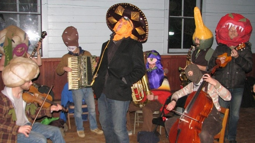 Feb. 18, 2012: The Morgantown Monster Mariachi Band, as they perform at the Open Mic Session in the Star Band Hall at the 2012 Fasnacht in Helvetia, W.Va.