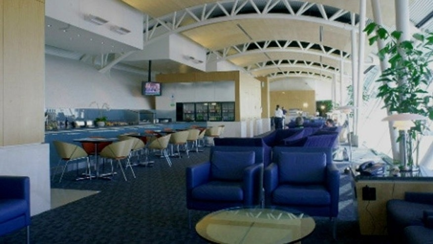 American Airlines' Admirals Club lounge at LAX.