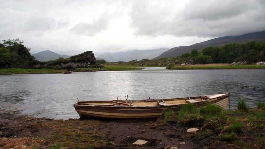 May 28, 2012: A boat tied up on the shore of Muckross Lake in Killarney National Park, County Kerry, Ireland.