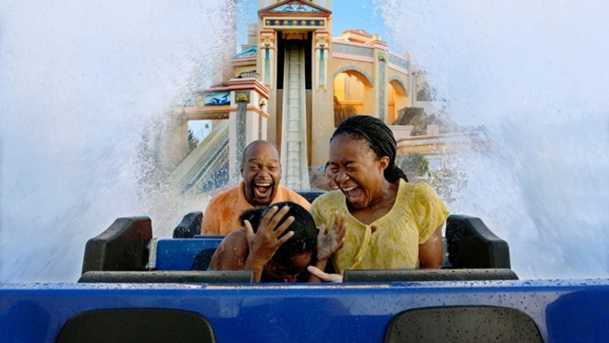 Atlantis Water Coaster Ride, SeaWorld Orlando.