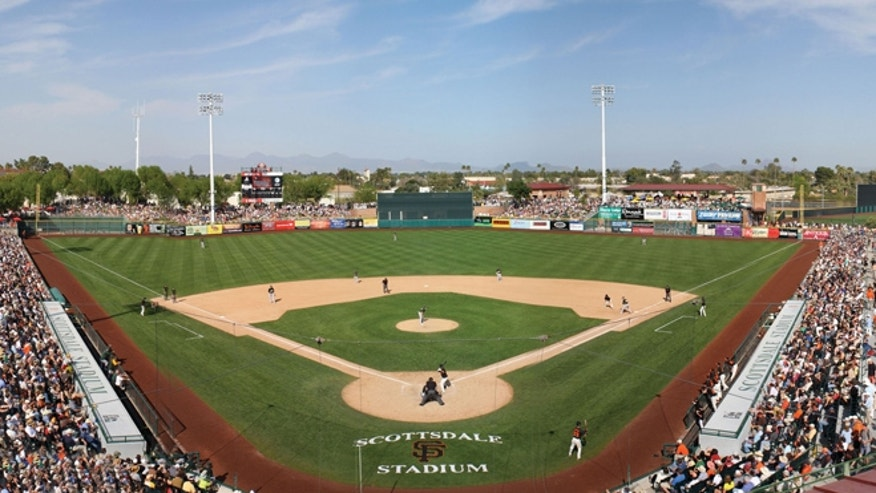 Scottsdale Stadium, the spring training home of the San Francisco Giants.