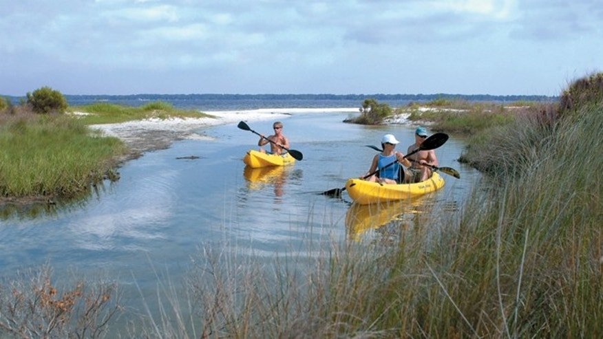 Kayaking at Gulf Islands National Seashore