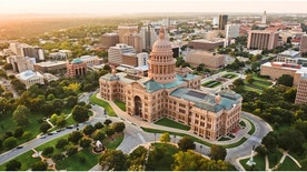 aerial view of Capitol building in Austin the Capital of Texas