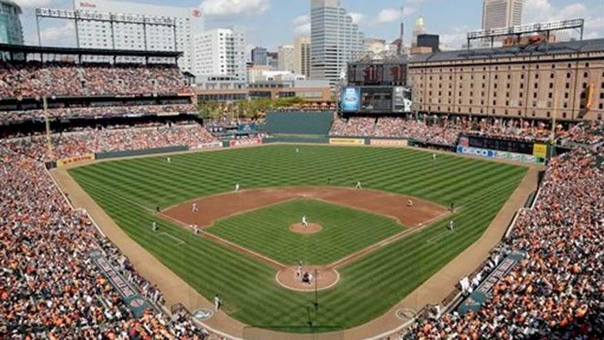 Sept. 30, 2012: Oriole Park at Camden Yards during the third inning of a baseball game between the Baltimore Orioles and the Boston Red Sox in Baltimore.