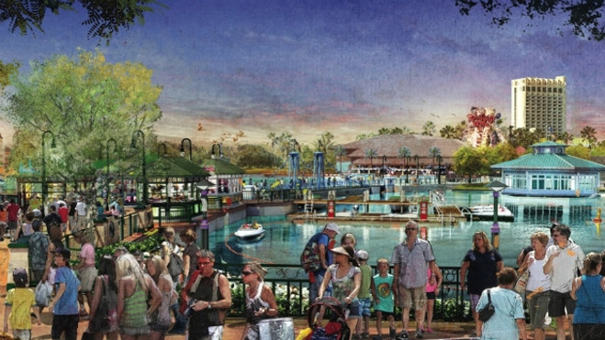 Artist renderings: Disney Springs will include more restaurant and entertainment venues, as well as a lakefront.