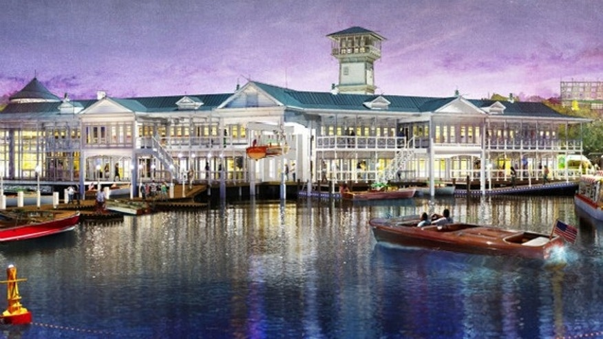 Artist renderings: Downtown Disney will feature a series of new elevated spaces that provide both shade and an overlook to the activity below.