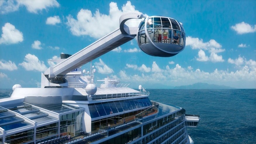 The Quantum of the Seas will offer a number of innovative features that are the first-ever for the cruise industry, including The North Star, an observation capsule on a movable arm that will offer a bird's eye view from 300 feet above the water.