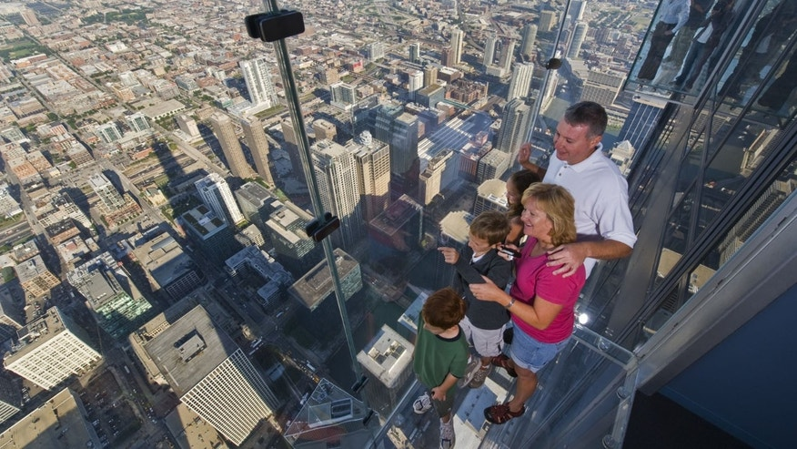 The Ledge at Skydeck Chicago in the Willis Tower.
