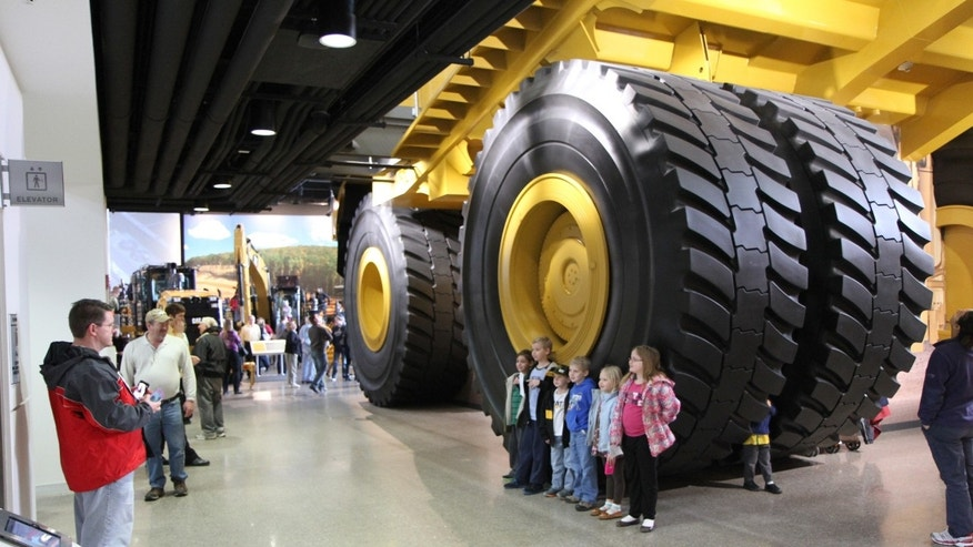 December 2012: Equipment on display at the Caterpillar Visitors Center in Peoria, Ill.