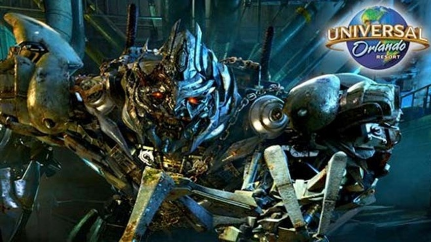 """Universal Orlando says the Transformers themed ride is an interactive, """"larger than life battle"""" between the Autobots and Decepticons."""