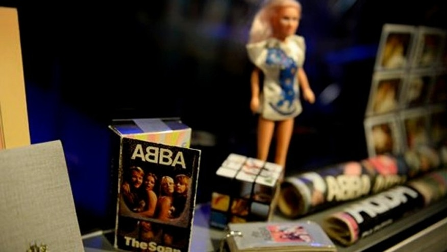 May 6, 2013: Swedish music group ABBA memorabilia seen during a press preview of 'ABBA The Museum' at the Swedish Music Hall of Fame in Stockholm, Sweden.