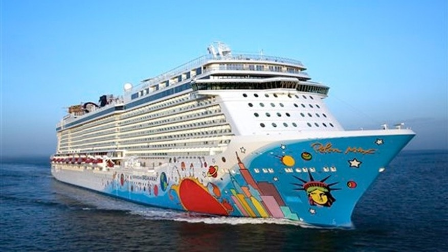April 29, 2013: Norwegian Breakaway, sailing from Southampton, England, to New York.