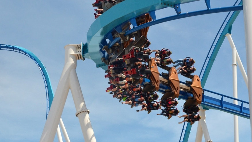 May 9, 2013: Cedar Point shows riders testing the new, $30 million winged rollercoaster called GateKeeper at Cedar Point park in Sandusky, Ohio.