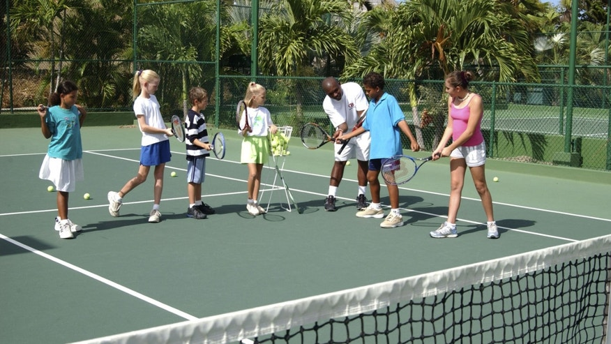 Kids tennis, Curtain Bluff.