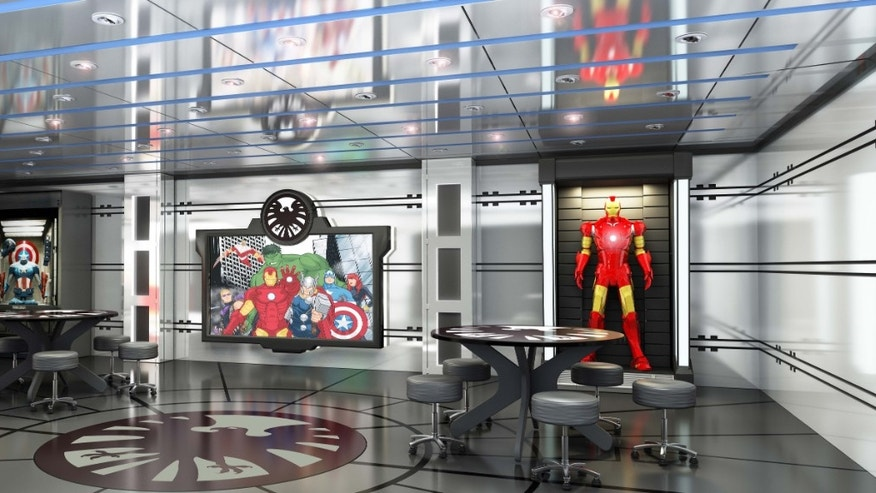 A new children's area called Marvel's Avengers Academy to be built on the Disney Magic ship.