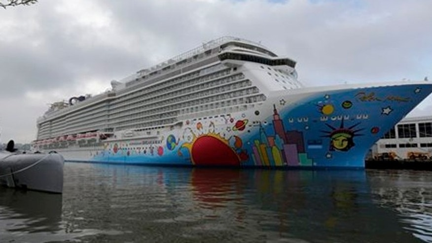 The Norwegian Breakaway, which was christened in New York, Wednesday, May 8, 2013.