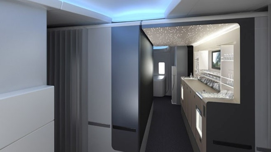 Interior of American Airlines' new Boeing 777-300ER,