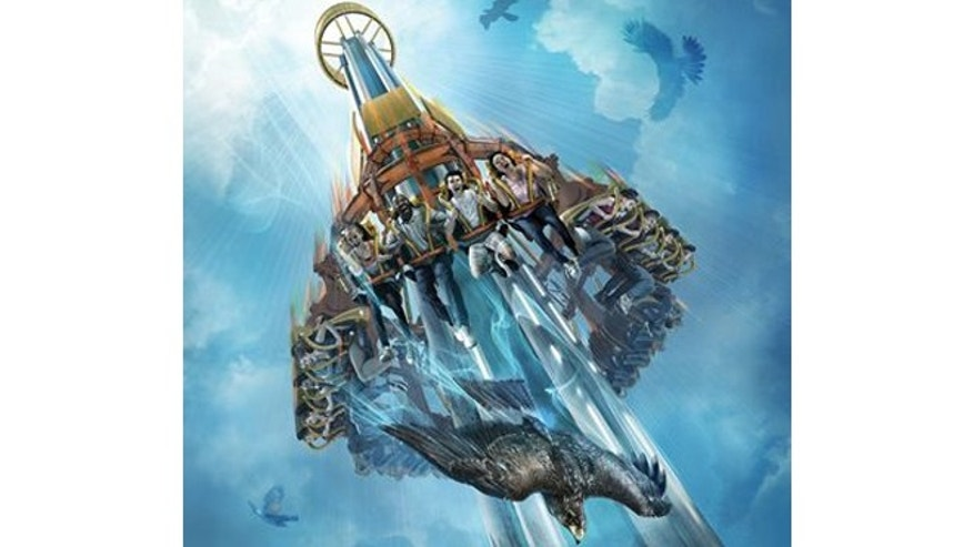 """Busch Gardens announced its newest attraction, a 335-foot """"drop tower"""" named Falcon's Fury that will give riders five seconds of free fall, simulating the feel of """"rushing to the earth like a bird of prey at 60 mph."""""""