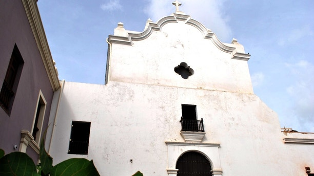 This image provided by the National Trust for Historic Preservation shows San Jose Church in Old San Juan, Puerto Rico. The trust placed the church on its 2013 list of 11 Most Endangered Historic Place. The San Jose Church was built in 1532 and stands as one of the few remaining examples of Spanish Gothic architecture in the Western Hemisphere. It closed 13 years ago and is now threatened by deterioration and structural damage. This is the preservation group's first listing from Puerto Rico. (AP Photo/The National Trust for Historic Preservation)