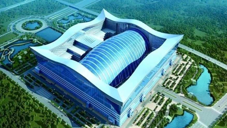 An artist's rendering of the New Century Global Center, which opened to the public in Chengdu, China.