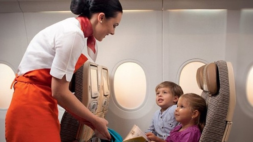 The specially-trained flight attendants will help keep occupied with games, crafts and magic tricks.