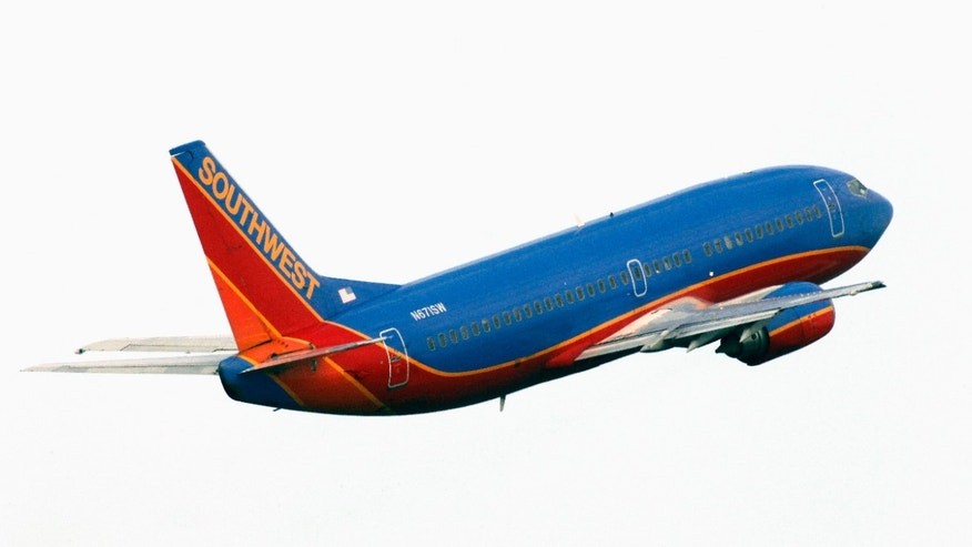 A Southwest Airlines Boeing 737-300 takes from Tampa, Fla.