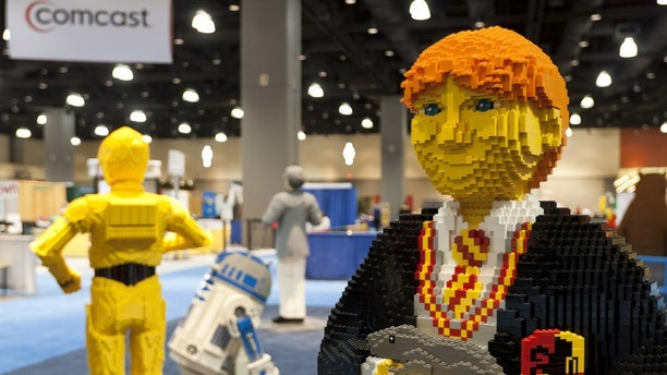 Characters from your favorite television shows and movies stand side-by-side with original LEGO creations.