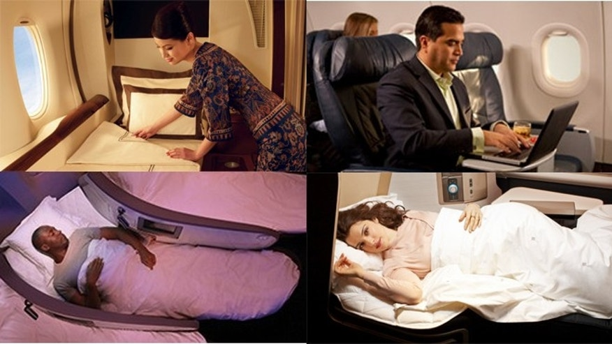We break it down: Singapore Airlines' private suites, first class on US Airways, Virgin Atlantic's Upper Class, British Airways business, and more.