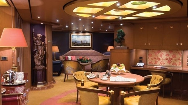 A luxury stateroom aboard Holland America.