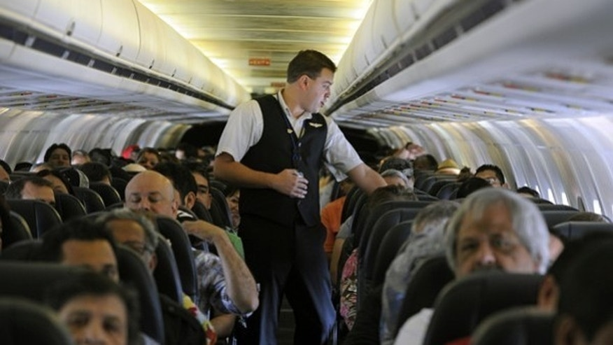 Crowded conditions: Airline carriers pack more passengers on each flight to save money.