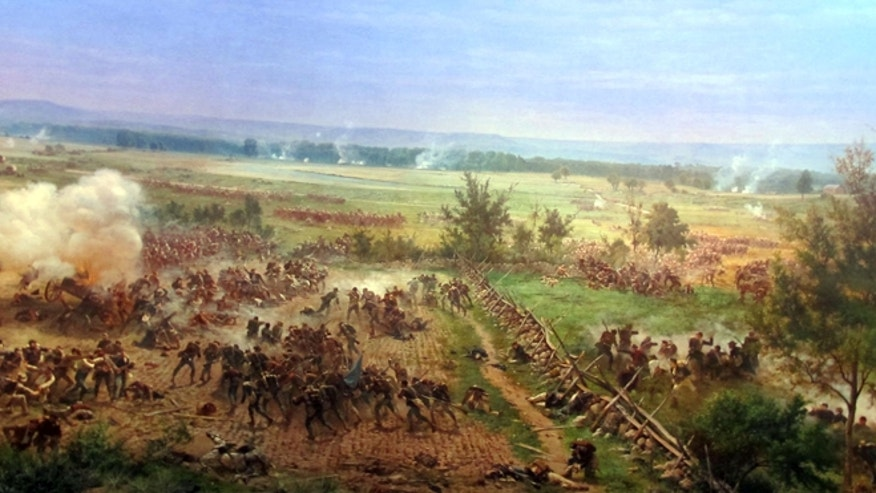 One section of the Cyclorama at the Gettysburg Visitors Center and Museum.