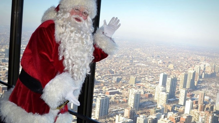 Santa at the John Hancock Observatory, Chicago.