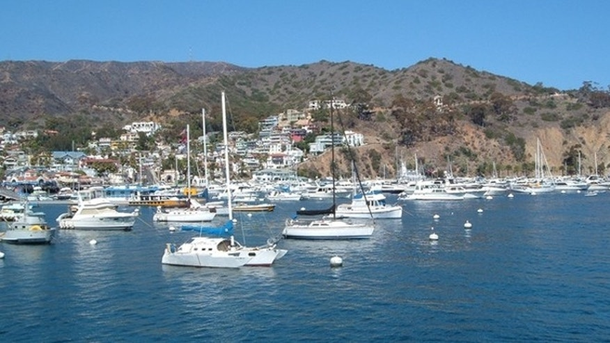 The blue waters off the coast of California's Catalina Island.