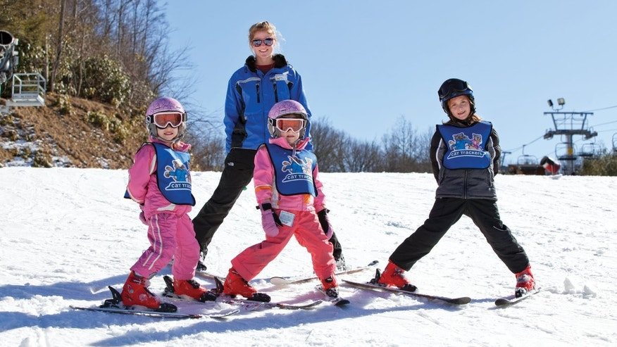 Young skiers starting out right with Cataloochees Cat Trackers program, for kids ages 4-12.