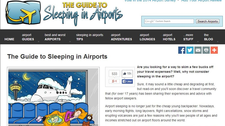 SleepinginAirports.net