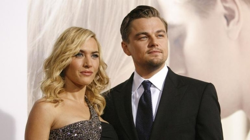 'Titanic' stars Leonardo DiCaprio and Kate Winslet reunite on the red carpet.