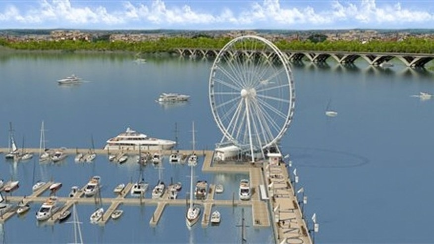 The Capital Wheel at National Harbor, Md., a large-scale observation wheel soaring 175 feet above the Potomac River with views of Washington, DC, Maryland and Virginia.