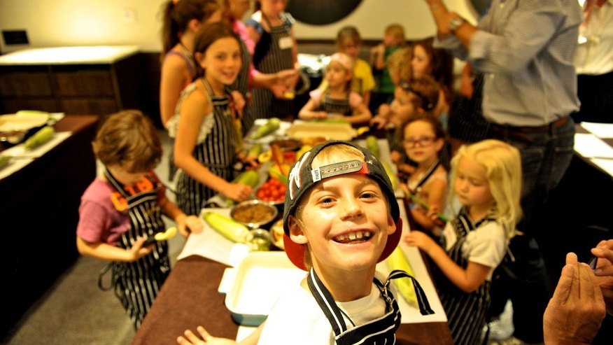 Kids' cooking class at the Little Nell in Aspen, Colo.