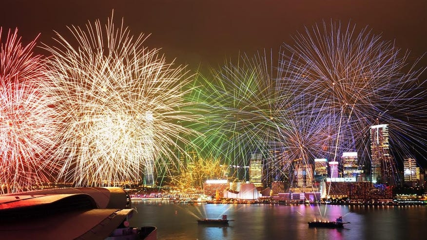 See fireworks and lights over Victoria Harbor