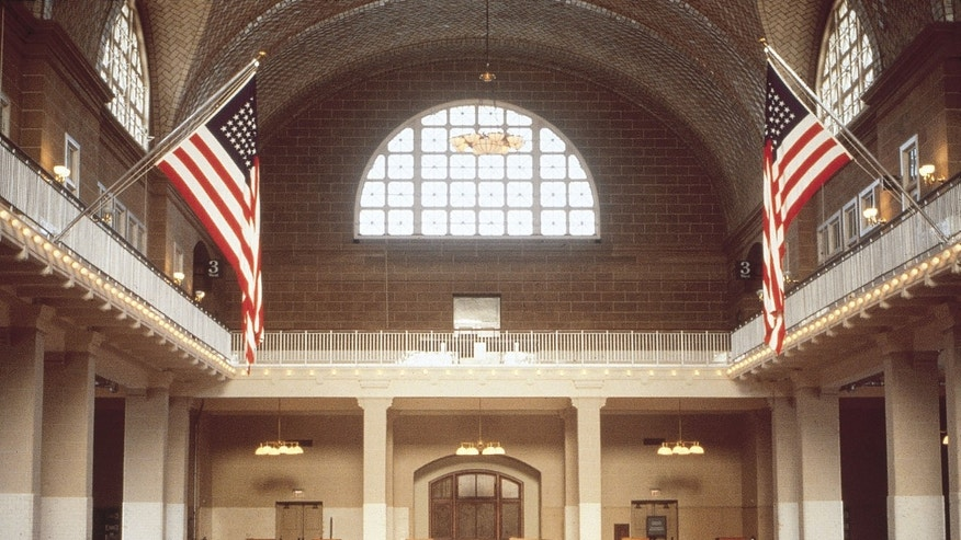 The Great Hall at Ellis Island.